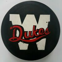WESTON DUKES RARE COOPER  OFFICIAL HOCKEY PUCK MADE IN CZECHOSLOVAKIA