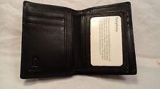 Belton DO89T Black Nappa  Leather Men's Flip ID Billfold Wallet