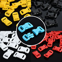 "10/50/100pcs 3/8"" 10mm Curved Side Release Plastic Tighten Buckle for Belt Strap"