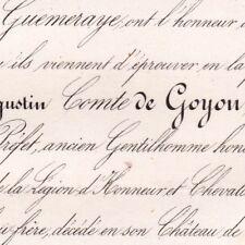 Michel Augustin De Goyon L'Abbaye Chantenay 1851