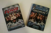 WWE: The Best of Raw 15th Ann. + Smackdown 10th Ann. Lot of 2 DVD Box Sets WWF