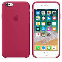 Original Funda Carcasa Suave de silicona con Logo para iPhone X 8 7 6 6s Plus