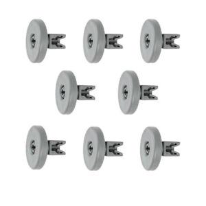 8x Korbrolle Oberkorb Ersatz Räder Rollen für Spülmaschinen / 40mmØ universal
