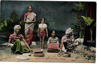 POSTCARD Jugglers & Snake Charmers Colombo Ceylon, Sri Lanka  c1920s, Plate Ltd