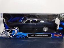 Maisto 1969 Ford Torino Talladega 1:18 Scale Diecast Metal Model Blue Car