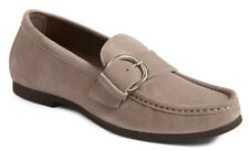 NEW AGL Buckle Flat Ginger Shimmer Suede Leather Loafer 41/US 11 Attilio Giusti