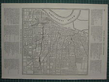 Carte de 1926 ~ memphis city plan tennesse railway station gaston park