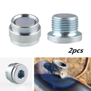 2x O2 Oxygen Sensor Stepped Mounting Boss & Plugs Nut Bung M18x1.5 Universal Car