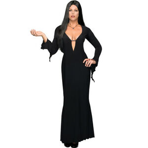 Morticia Costume Plus Size Addams Family Womens Black Dress