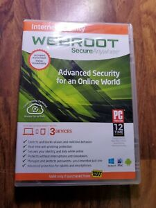 Webroot Secure Anywhere Antivirus 2012 w/keycode for Windows - Great condition!!