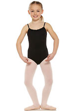 NWT Mirella Black Pinch Pleat Yoke Cami Leotard Dance Ballet Girls 8/10 M263C