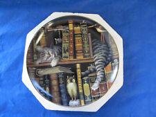 "Bradford Exchange Cat Plates ""Frederick The Literate"" By Charles Wysocki"