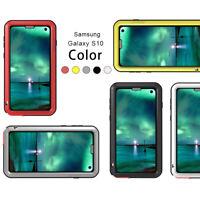 LOVE MEI Waterproof Outdoor Alu Metal Gorilla Glass Case fo Samsung Galaxy S10 +