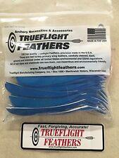 trueflight 12.7cm plumes aile gauche Parabolique Découpe Paquet de 100 Bleu