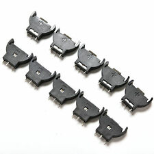 10PCS CR2032 2032 3V Cell Coin Battery Socket Holder Case HU