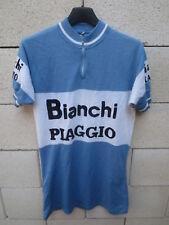 Maillot cycliste BIANCHI PIAGGIO vintage maglia shirt jersey trikot camiseta S