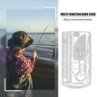 EDC Hunting Fishing Wilderness Survival Card Hooks Tool Saw Arrow Multi Y3E9