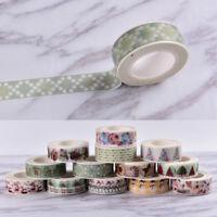 Christmas Washi Tape Paper Masking Sticky Adhesive Roll Craft Decorative HC