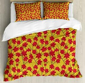 Colorful Spring Duvet Cover Set Twin Queen King Sizes with Pillow Shams Bedding