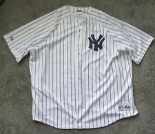 NWOT MAJESTIC YANKEES STITCHED LOGO PINSTRIPE JERSEY BIG TALL 4X 4XL XXXX-LARGE