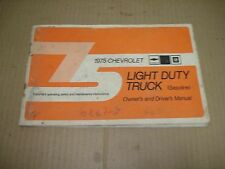 1975 Chevrolet Light Duty Truck Owner's and Drivers Manual