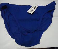 Nos Vtg Royal Blue See Through Mesh Xl 100% Cotton Bikini Briefs M Oldstock