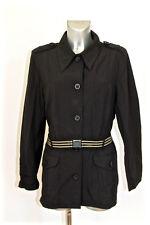 luxueuse jacket veste en gabardine noire FENDI ROMA size 44 fr i48 valeur 2000€