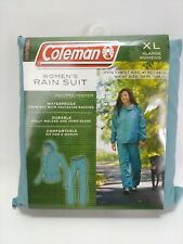 Coleman Women's Rain Suit PVC Polyester Waterproof XL