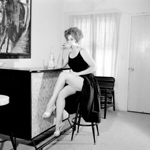 Vintage PINUP Negative & Photo 1960s SEXY REDHEAD By ELMER BATTERS