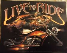 Live to Ride Motorcycle Sticker Bad Boar Decal Bumper Self Adhesive Window Car