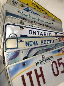 Various Canadian License Plates