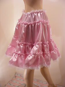 CUSTOM SEXY SISSY ADULT BABY SATIN MINI SKIRT 20 inch FANCY DRESS COSPLAY