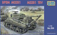 Unimodel 225 M32B1 Tank Recovery Vehicle WW II 1/72 scale model kit