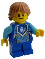 Lego Robin Underwood blaue Beine Nexo Knights Minifigur Legofigur nex036 Neu