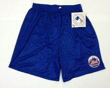 New Majestic New York Mets Royal Blue Mesh Shorts NWT size L Large