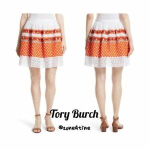 NWT Tory Burch Austen Embellished Dirndl Skirt Size 2