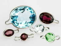 Sterling Silver Pendant Stone Setting Bail - Snap On WrapTite, Round / Oval Loop