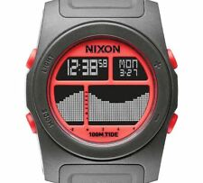 PRE-OWNED $95 Nixon Men's Rhythm Digital Japanese Grey Sport Watch A3851689