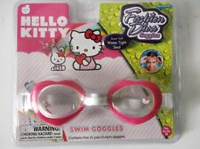 Sanrio Swim Goggles Pink/White Hello Kitty for Beach or Pool Swim
