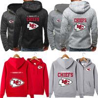 Kansas City Chiefs Hoodie Football Hooded Sweatshirt Fleece Coat Gift For Fans