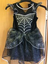 Asda George Girls Fancy Dress Witches Spider Web Costume Age 3-4