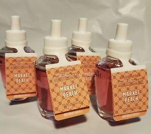 4 Bath and Body Works MARKET PEACH Wallflowers Home Fragrance Refill Bulb