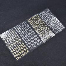 1 Sheet Number Letter Sticker Digital Silver Gold DIY Wall Decals Craft 19x9.5cm