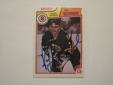 RAY BOURQUE SIGNED AUTOGRAPHED 1983 O-PEE-CHEE OPC CARD BRUINS HOF