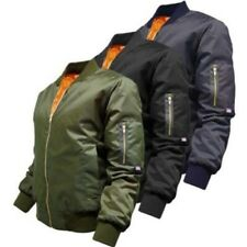LADIES MA1 BOMBER JACKET WOMENS M US MILITARY ARMY COAT PILOT BIKER FASHION EK