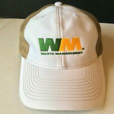 WASTE MANAGEMENT WM Trucker Baseball Cap hat mesh Embroidered waste management