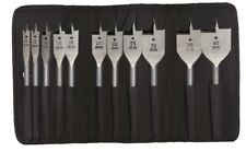 "Heller 11 pieza plana de madera Bit Set 10 Mm - 40 Mm-quickbit 1/4"" Hex-German Tools"