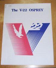THE V-22 OSPREY PRESS HANDOUT MAY 1989 BELL-BOEING TILTROTOR