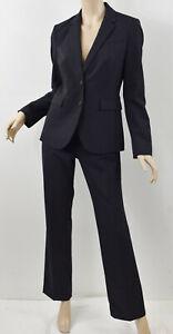 BANANA REPUBLIC Navy Woven Stretch Wool Blazer & Logan Fit Pants Suit Set S 4P/6