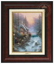 Thomas Kinkade Sweetheart Cottage II 12 x 9 Canvas Classic (Burl Frame)